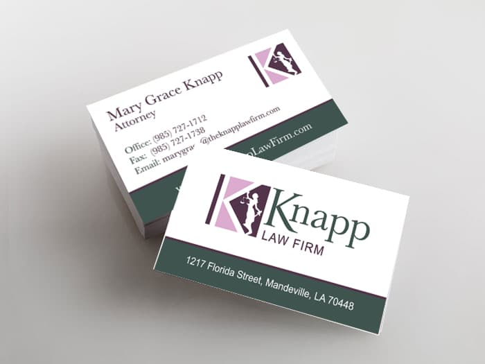 Knapp Law Firm business cards